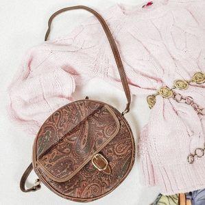 Handbags - Round paisley crossbody with adjustable strap